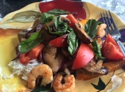 Grilled Shrimp & vegetable medley