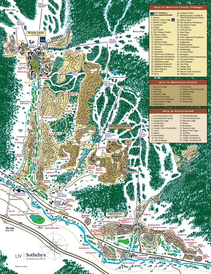 Vail Valley Beaver Creek Area Map 2017 Interior