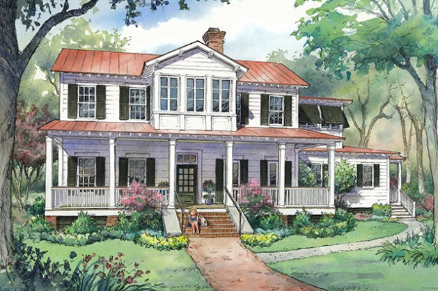 h o u s e p l a n   New Vintage Lowcountry a Southern Living Plan     New Vintage Lowcountry SL 1831  Image  Southern Living House Plans