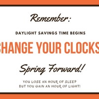 Daylight Savings Time Begins - Time to Spring Forward!