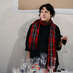 "The Division Museum of Cermics and Glassware ""Complimentary Wine / Donation Event""The Apartment Show, Brooklyn, NY 2010. Performance and installation View"