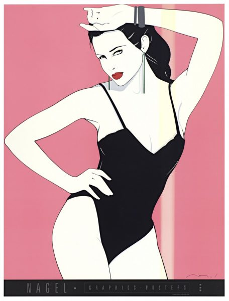 Patrick Nagel, Black Teddy, Fine Art Poster, UV Exposure Time Two Weeks, 2009, digital c-print, 24 1/2 x 19 inches, 62 x 48 cm.