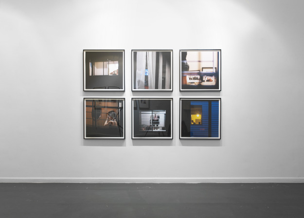 Installation View, Rear Window Treatment, Louis B James, New York, NY, 2014 - 2015.