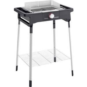 Severin Senoa Home S Elektrische barbecue Uitvoering: Elektrisch Kabelgebonden, Met voet, Met handmatige temperatuursinstelling Zwart
