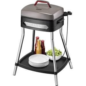 Unold Barbecue Power Grill Staande grill Uitvoering (BBQ): Elektrisch Met handmatige temperatuursinstelling Zwart, Zilver