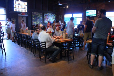 Inside of NoDa Brewing