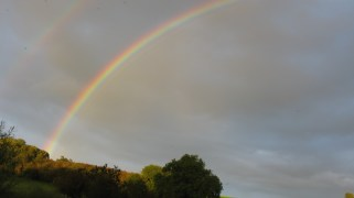 Rainbow over the Severn at Stanley.