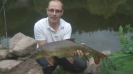 Andy Looks Pleased With His Wye PB, 9.10