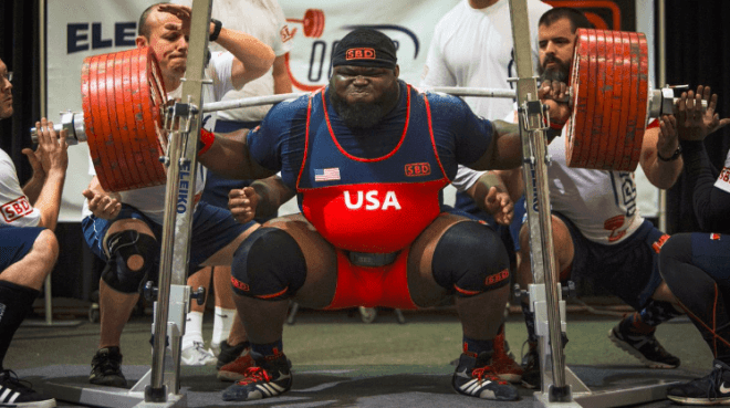 Ray Williams powerlifting competition squat