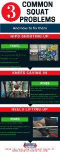 Common squat mistakes infographic