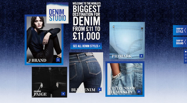 Denim Studio Selfridges London