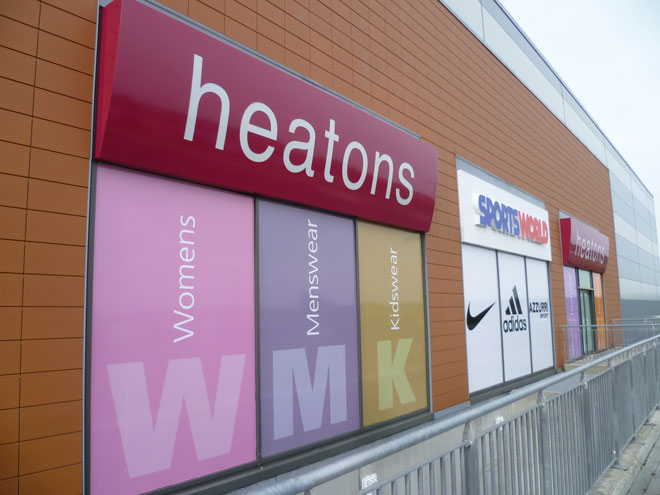 outside the new Heatons store