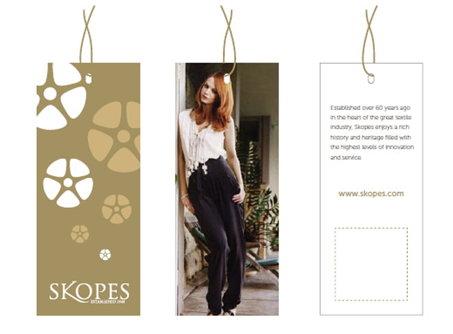 Skopes womenswear swing tag design