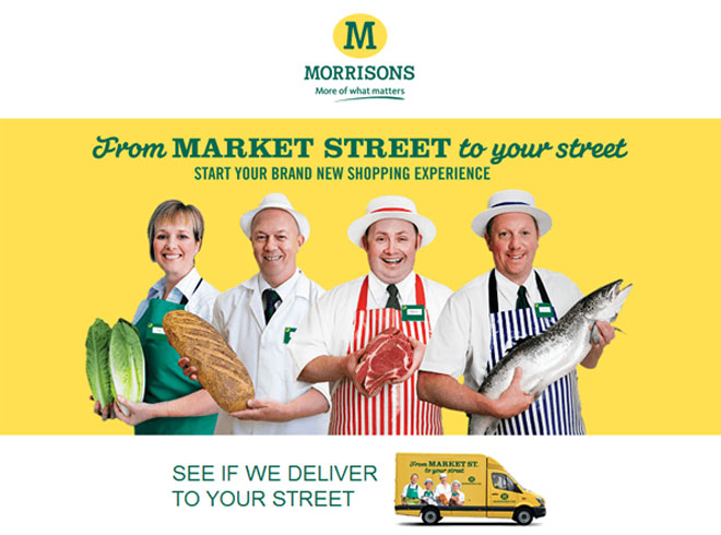 Screenshot of Morrisons new online shopping experience