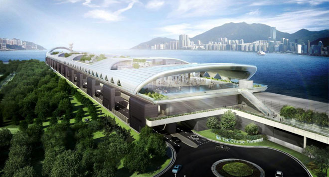 Kai Tak Cruise Ship Terminal in Hong Kong
