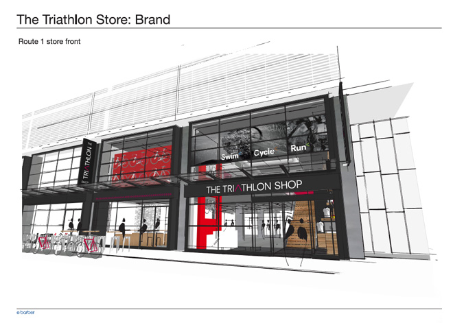 Visuals for the new Triathlon Shop design in Bristol