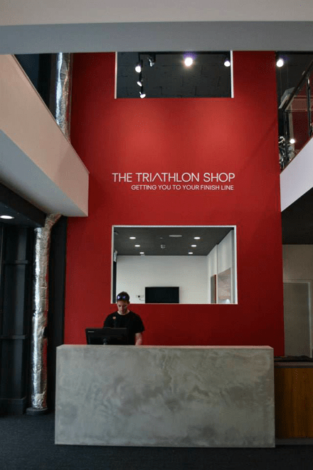Triathlon Store entrance