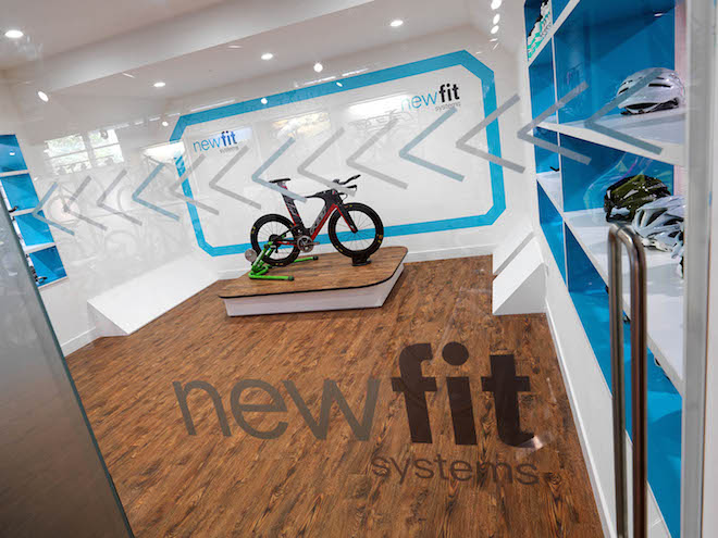 Bike Test workshop built into retail interior
