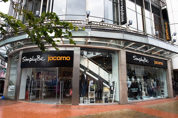 The exterior of the new fashion retail store for Simply Be and Jacomo in Belfast