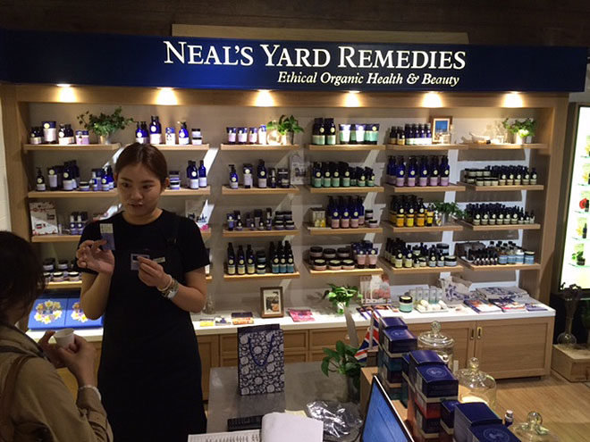 Neals Yard retail design in Taipei