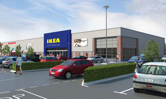 A mockup of the new Ikea Store