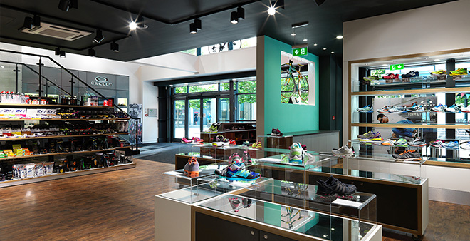 The award-winningTriathlon Shop interior