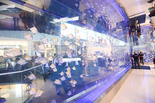 The store offers a unique experience for visitors to the Dubai Mall