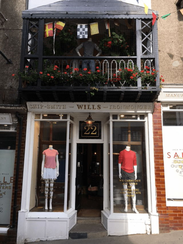 Orignal storefront - Jack Wills in Salcombe