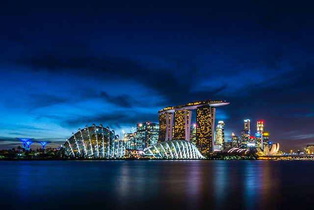 TFWA Asia Pacific Singapore skyline at night