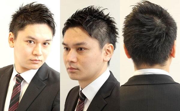 ビジネス刈り上げショートの髪型|スーツ姿に似合うアップバング特集