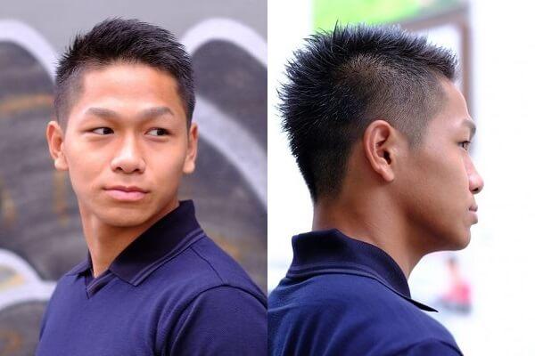 メンズ40代刈り上げソフトモヒカン|理容師おすすめのヘアカタログ