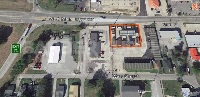 Site Map for 708 West Main St., Benton, IL - Potential Redevelopment Site