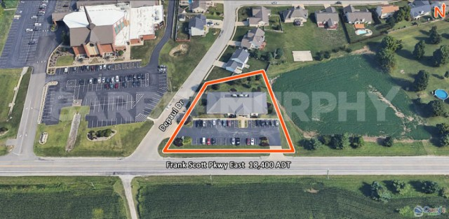 Site Map of 391 Frank Scott Parkway East, Fairview Heights, IL 62208, Office for Sale