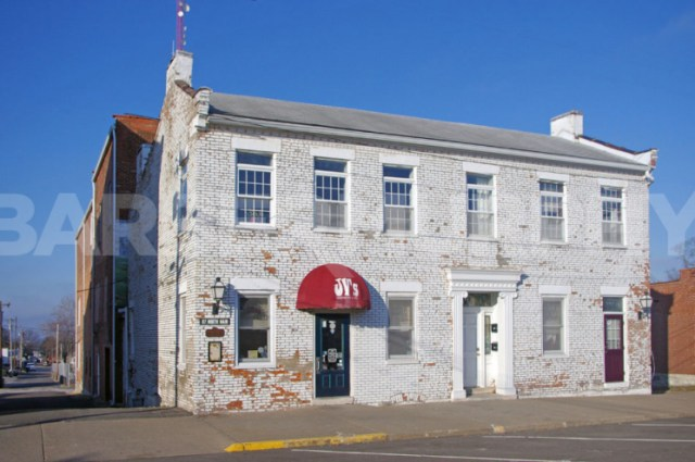 Exterior Image of JV's Bar and Grill for Sale in Downtown Waterloo, IL, Turn-Key Restaurant with Upstairs Living Quarters