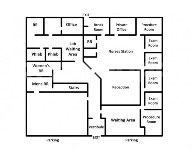 Floor Plan for BJC Medical Side