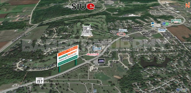 Area Map of 9 Acres for Sale on IL Route 157, Edwardsville, IL