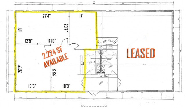 Image of Floor Plan for 2,200  SF Office/Studio Space - For Lease, Cambridge Office Park, 772 Wall St, OFallon, Illinois 62269
