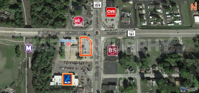 Site Map for Investment Property - 1,827 SF Office Building , TitleMax, NNN Investment, 1718 North Illinois St, Swansea, Illinois