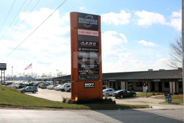 Monument Signage at Collinsville Business Center in St. Louis MSA, Collinsville, IL - Space for Lease