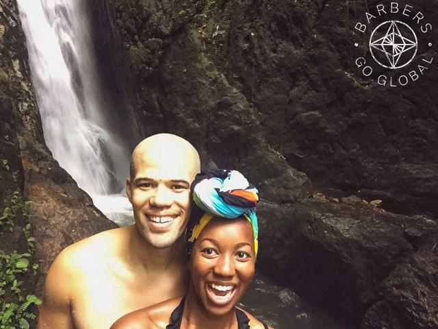 Lucas and Lisa at Bang Pae Waterfall in Phuket, Thailand