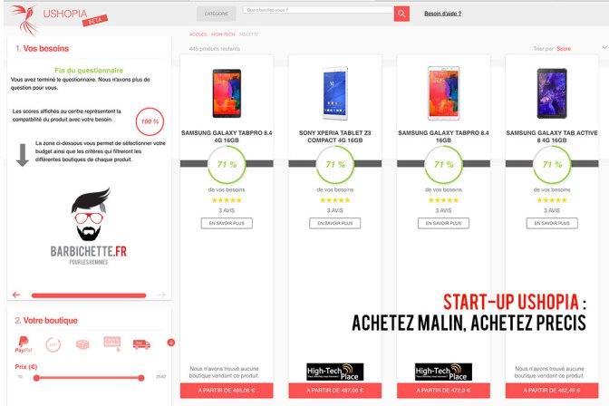 Ushopia - Sélectionnez les boutiques par critères