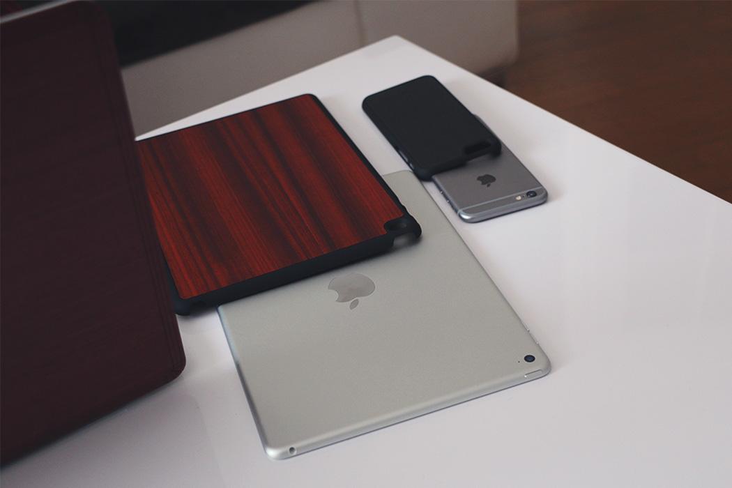 Coque bois iPad iPhone