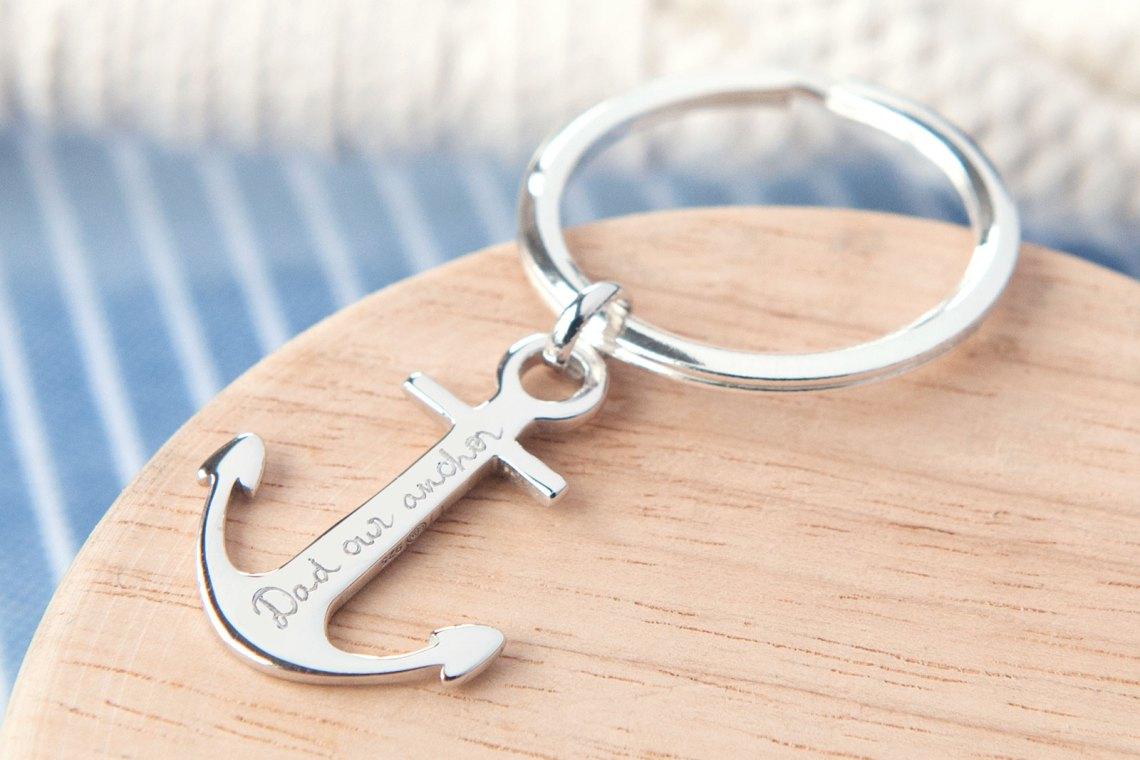 Bracelet ancre homme gravure
