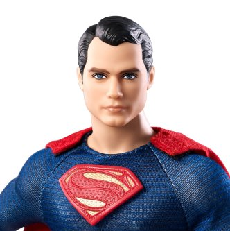 Barbie Collector Batman v Superman Dawn of Justice Superman Doll face