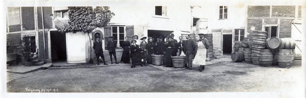 Champagne Barbier-Roze Vendanges 1912