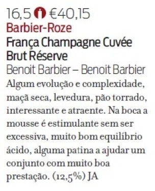 Note de dégustation Revista de Vinhos Réserve