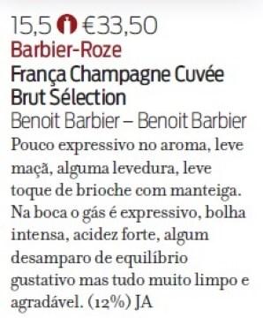 Note de dégustation Revista de Vinhos Sélection