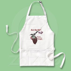 Apron with Barbolian Vampire mascot - available through Zazzle