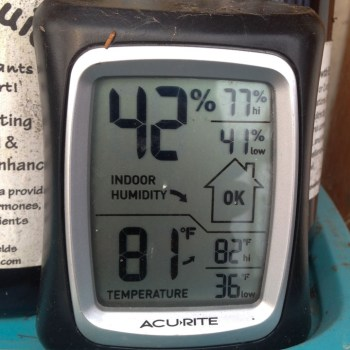 thermometer in greenhouse