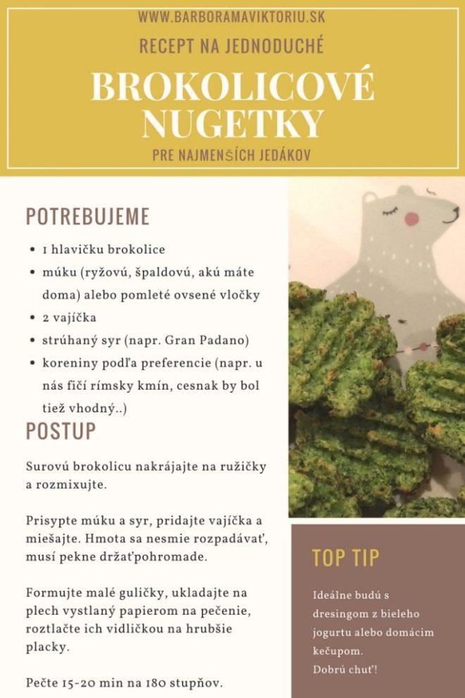 Recept na jednoduché brokolicové nugetky. www.barboramaviktoriu.sk